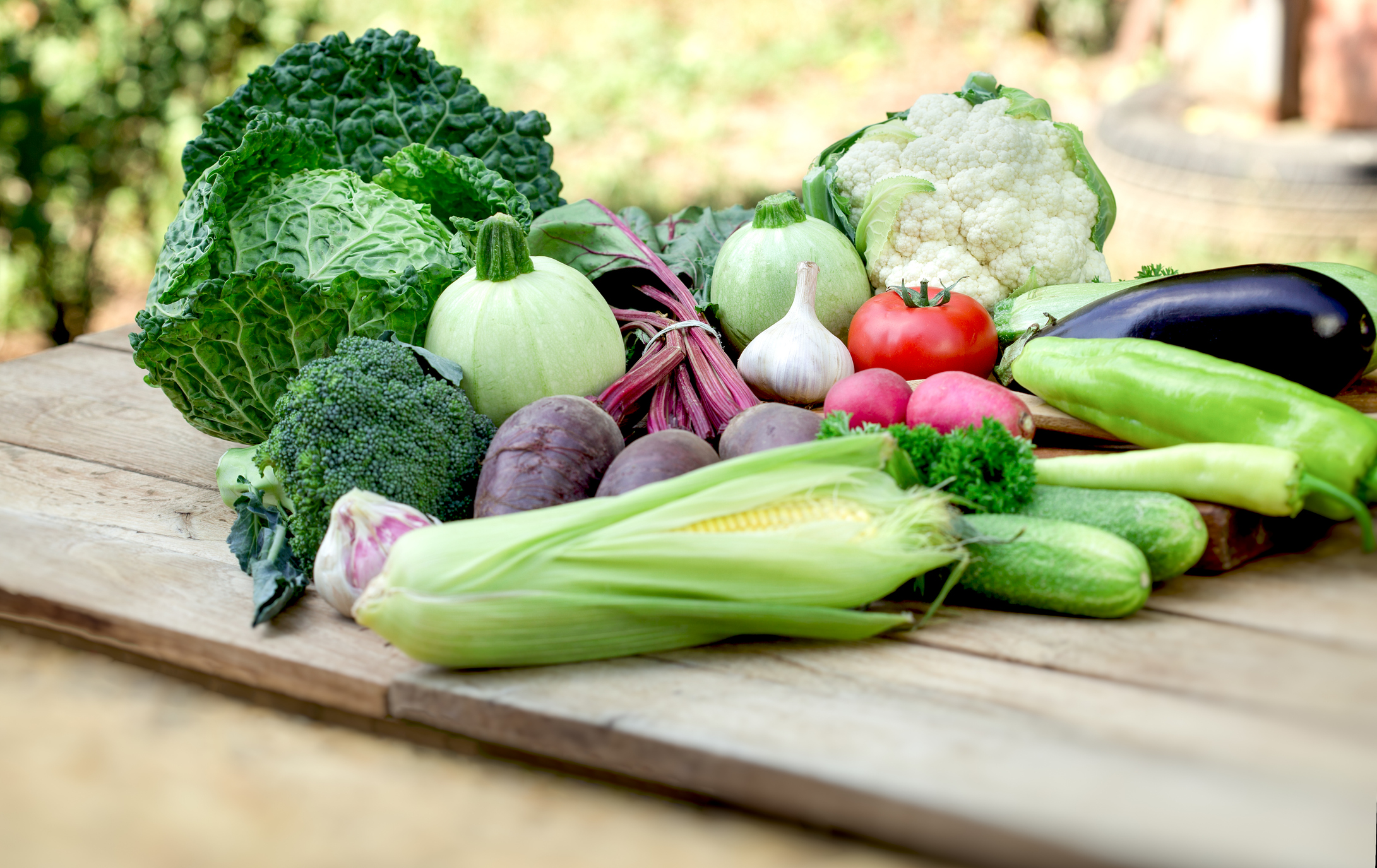 Vegetable on table, fresh organic vegetables in healthy eating