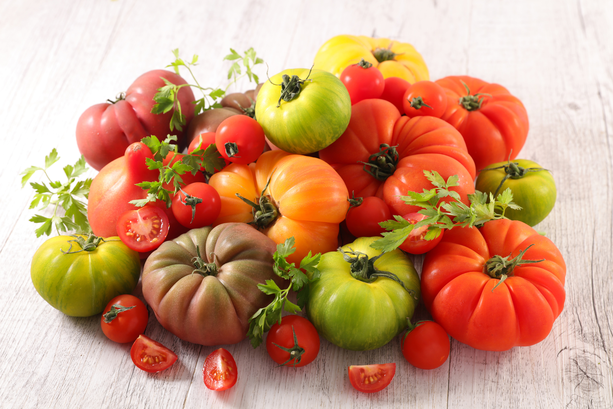 assorted various tomatoes